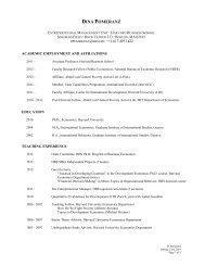 Curriculum Vitae - Harvard Business School