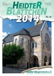 Heidter Blättchen 2014 online - HBV