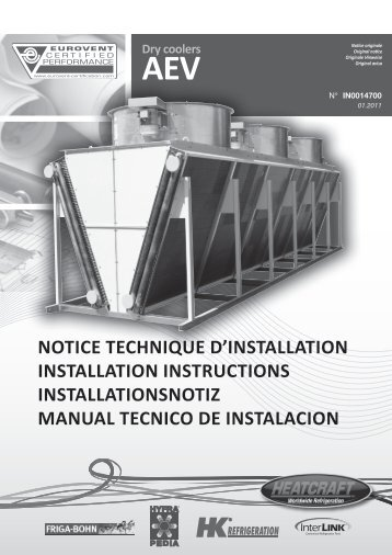 NOTICE TECHNIQUE D'INSTALLATION ... - Heatcraft Europe