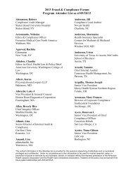 Attendee List - American Health Lawyers Association