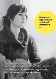 Psychische Prozesse während der Schwangerschaft und nach der ...
