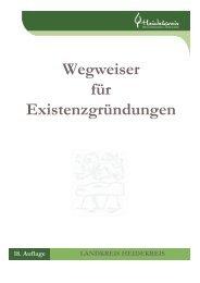 Wegweiser für Existenzgründungen Ausgabe Sept 2013 - Heidekreis