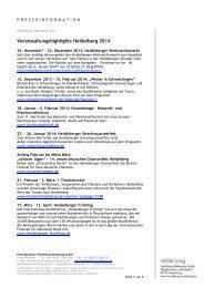 Veranstaltungshighlights Heidelberg 2014 - Heidelberg Marketing ...