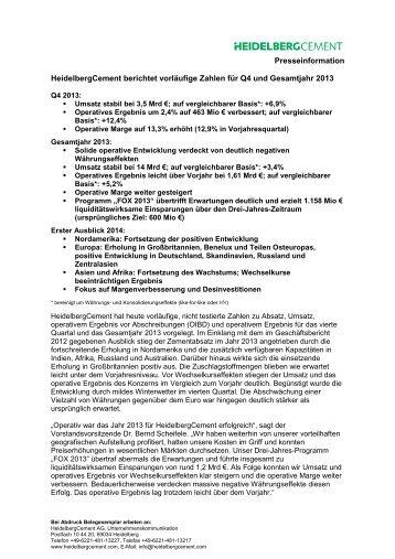 Druckversion der Pressemitteilung (PDF; 94 KB) - HeidelbergCement