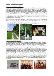 Rückblick Sommerferienprogramm 2013 Unterwegs auf dem ...
