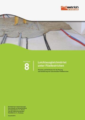 IWM-Merkblatt Leichtausgleichmörtel - HeidelbergCement