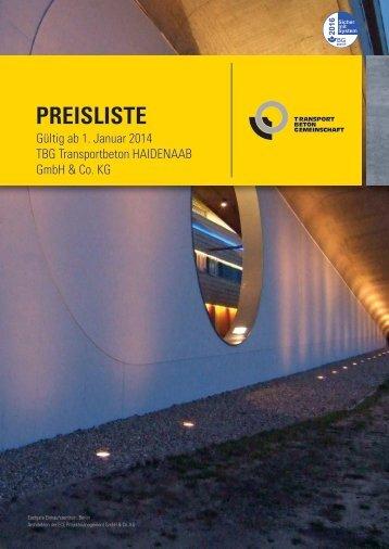 PREISLISTE - HeidelbergCement