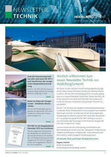 NEWSLETTER TECHNIK - HeidelbergCement