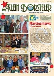 Martinsmarkt - Heimatverein Klein Borstel