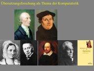 Arbeitsfelder der Komparatistik 11 - Heinrich Detering