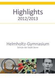 Highlights 2012/13 - Helmholtz Gymnasium Bonn