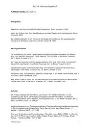Prof. Dr. Hermann Kappelhoff 1 Publikationsliste (30.10.2013)