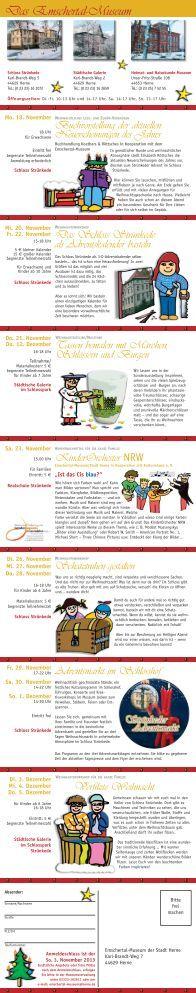 Programm Strünkeder Advent 2013 - Stadt Herne