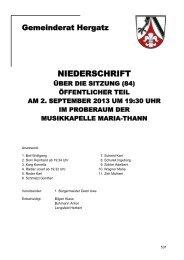Protokoll der Sitzung Nr. 84 vom 02.09.2013 - Gemeinde Hergatz