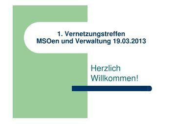Präsentation vom 1. Vernetzungstreffen am 19. März ... - Stadt Herne
