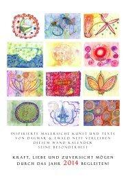 Wandkalender 2014 - von Dagmar&Ewald Neff