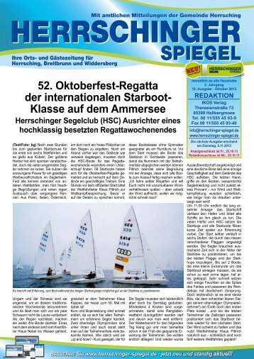 Herrschinger Spiegel • Ausgabe 10 • Oktober 2013 - Herrsching am ...