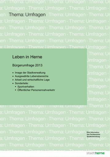 Bürgerumfrage 2013.pdf - Stadt Herne