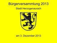Dokumentation der Bürgerversammlung - Stadt Herzogenaurach