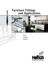 Furniture Fittings and Applications - Hettich