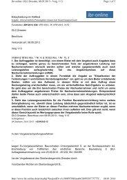 Page 1 of 5 ibr-online: OLG Dresden, 08.05.2013 - Verg 1/13 08.01 ...