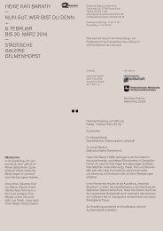 Das Programm - Hochschule für Künste Bremen