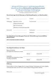 Antrag auf Zulassung zur Bachelorarbeit - Hochschule für Musik ...