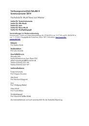 Vorlesungsverzeichnis Fakultät II Sommersemester 2014 ...