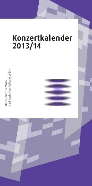 Konzertkalender 2013/14 - Hochschule für Musik Dresden