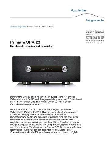 Primare SPA 23 - Klaus Henkes Klangkonzepte
