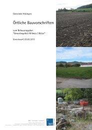 Örtliche Bauvorschriften - Gemeinde Hilzingen