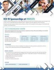 ICD-10 Sponsorships at HIMSS13