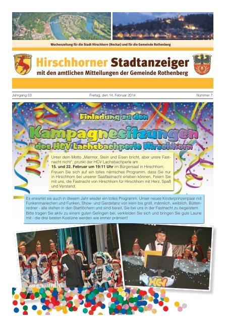 Ausgabe Nr. 7 vom 14. Februar 2014 - Hirschhorn