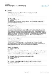 Studiengangplan für Nutzertagung