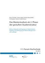 HIS:Forum Hochschule 9 | 2013 - Hochschul-Informations-System ...