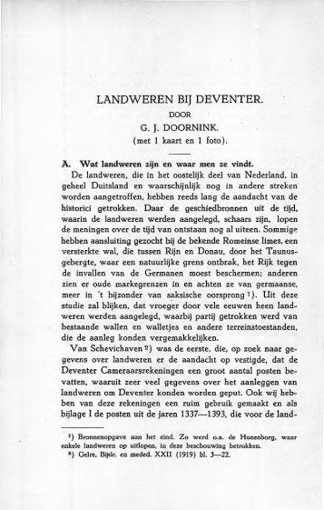 Landweren bij Deventer - Historisch Centrum Overijssel
