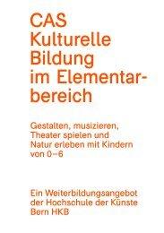 Flyer - Hochschule der Künste Bern