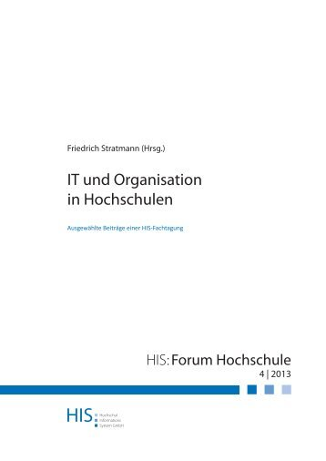 HIS:Forum Hochschule 4 | 2013 - Hochschul-Informations-System ...