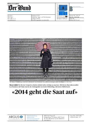 «2014 geht die Saat auf» - Hochschule der Künste Bern