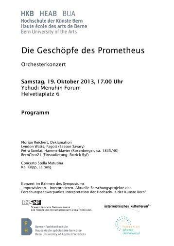 Konzertprogramm - Hochschule der Künste Bern - Berner ...