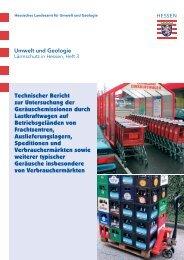 Technischer Bericht zur Untersuchung der Geräuschemissionen ...