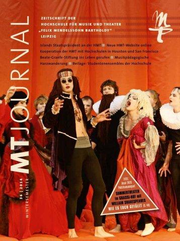 MT-Journal Nr. 36 Seite 1-45 - Hochschule für Musik und Theater ...