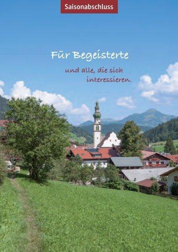 Große Saisonabschlussreise in die Wildschönau/Tirol - Hock Reisen