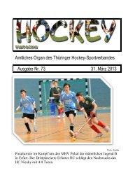 Ausgabe 73 vom 31. März 2013 - Deutscher Hockey Bund e.V.