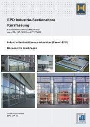 EPD Industrie-Sectionaltore aus Aluminium (PDF) - Hörmann KG