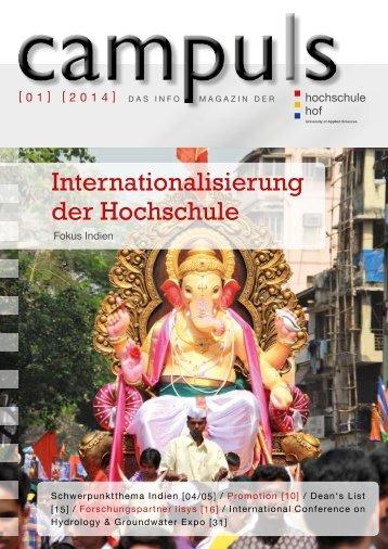 Internationalisierung der Hochschule - Hochschule Hof