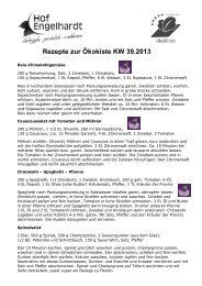 Rezepte KW 39 - Hof Engelhardt