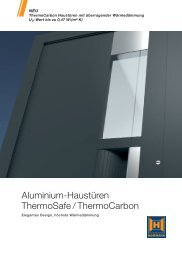 Aluminium-Haustüren ThermoSafe / ThermoCarbon - Hörmann KG