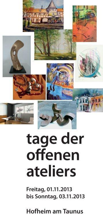 tage der offenen ateliers - Stadt Hofheim am Taunus