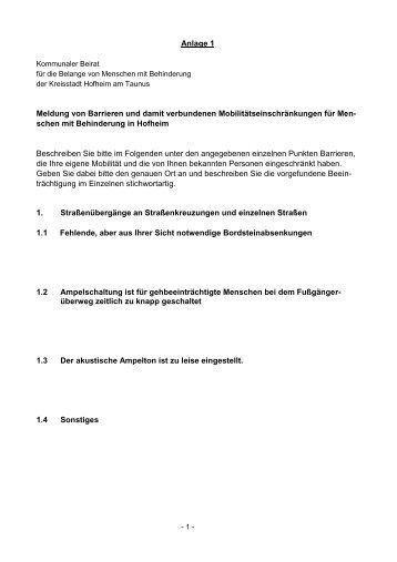 Der Behindertenbeauftragte - Stadt Hofheim am Taunus